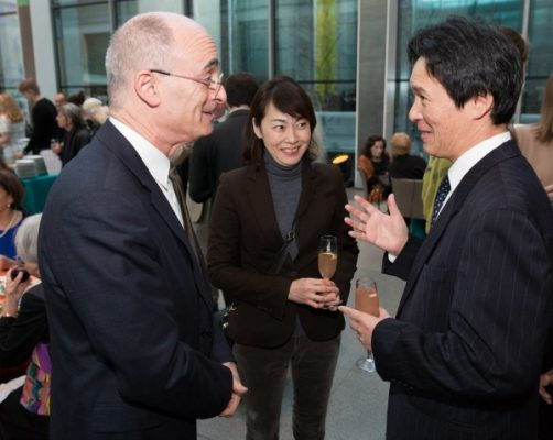 Matthew Teitelbaum, Ann and Graham Gund Director, MFA, with Japan's Consul General Rokuichiro Michii and his wife, Ms. Ikuko Michii / Photo by Michael Blanchard