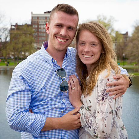 Stephanie Butzer Alex Rose engagement square