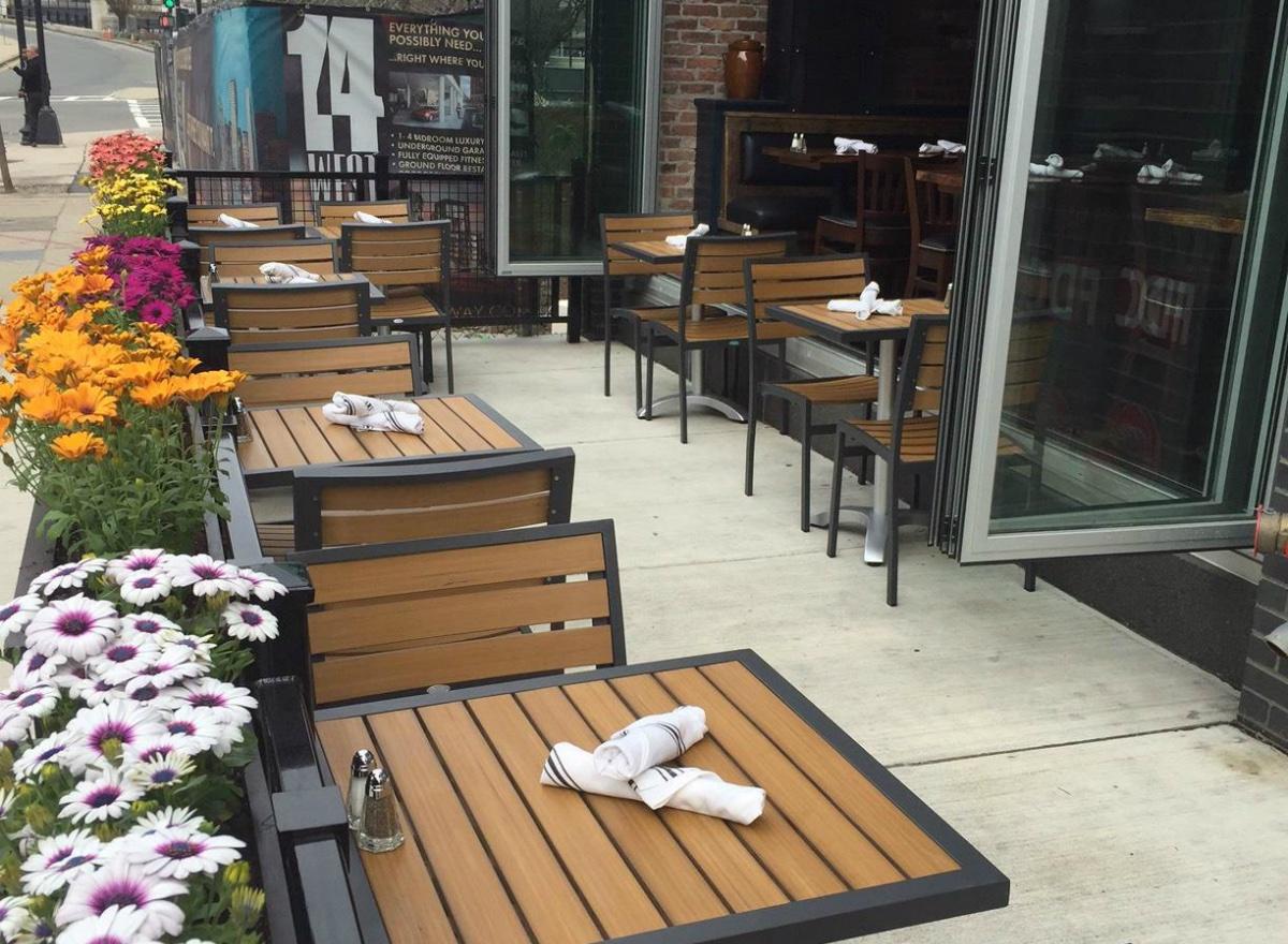 Worden Hall patio