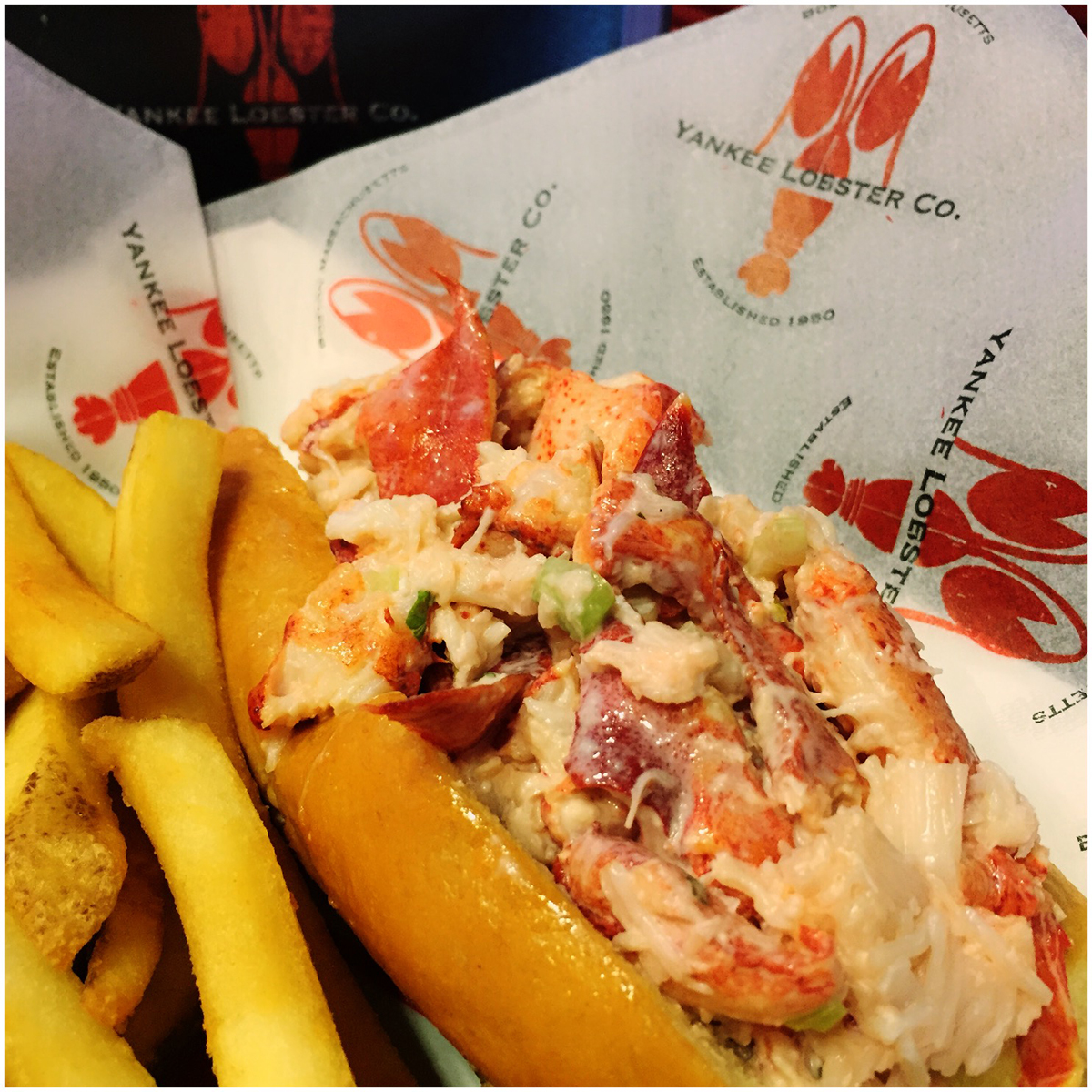 Yankee Lobster roll at Fenway Park