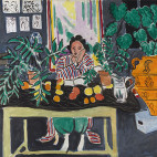 Interior with an Etruscan Vase 	Henri Matisse (French, 1869–1954) 	1940 	Oil on canvas 	*The Cleveland Museum of Art, Cleveland. Gift of the Hanna Fund 	*Courtesy of The Cleveland Museum of Art 	*© 2017 Succession H. Matisse / Artists Rights Society (ARS), New York 	*Courtesy, Museum of Fine Arts, Boston