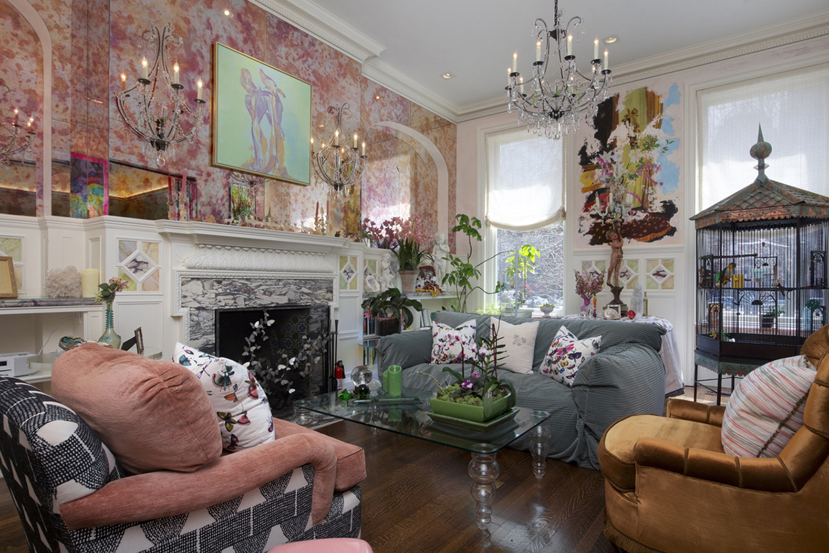 On the market a whimsical manor on commonwealth avenue for Colorful whimsical living room