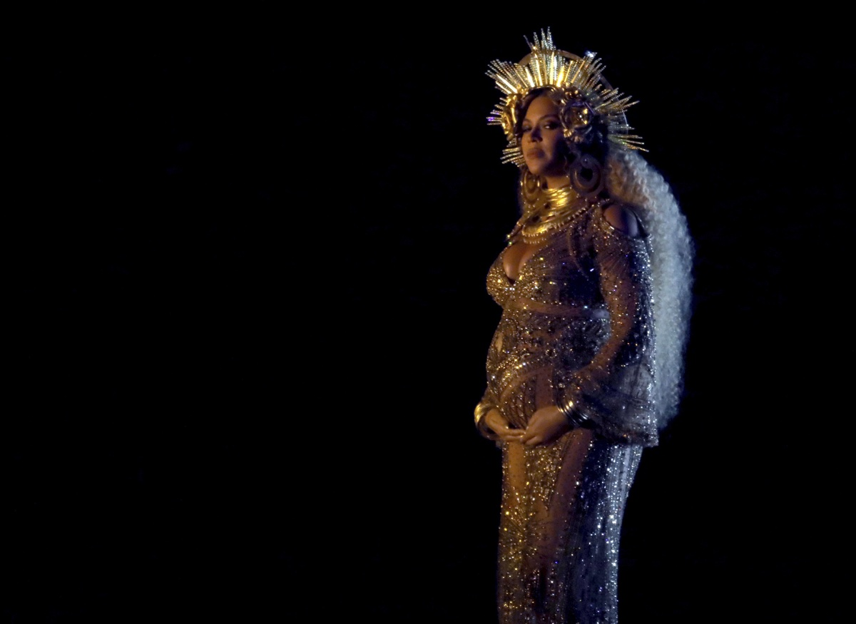 Beyonce performs at the 59th annual Grammy Awards on Sunday, Feb. 12, 2017, in Los Angeles
