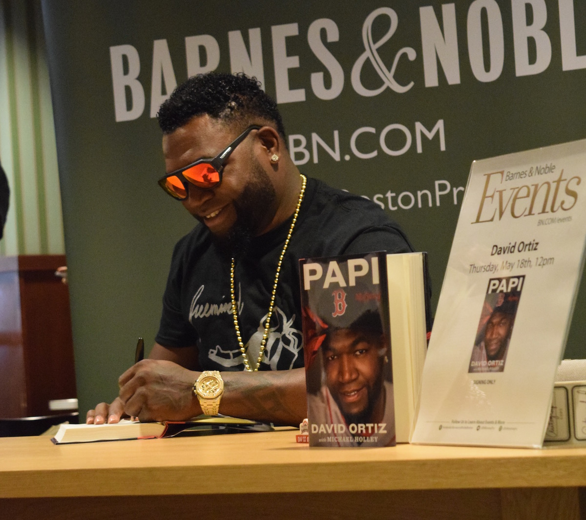 David Ortiz at book signing