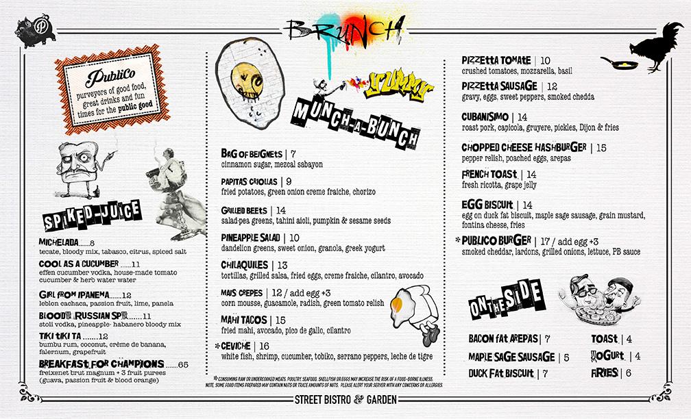Superfine Food Manchester Menu