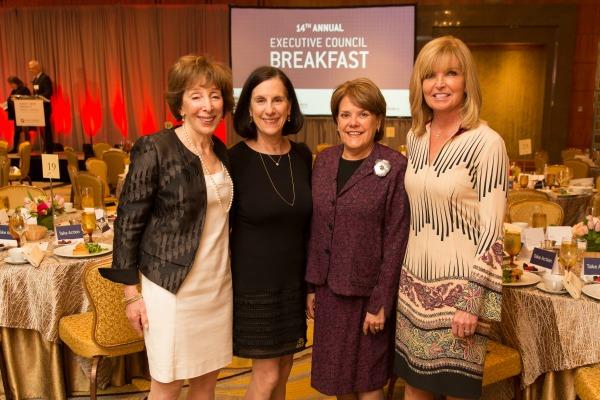 Breakfast co-chairs Deborah First, Barbara Marx, Janit Greenwood, and Hazel Durand / Photo by Michael Blanchard