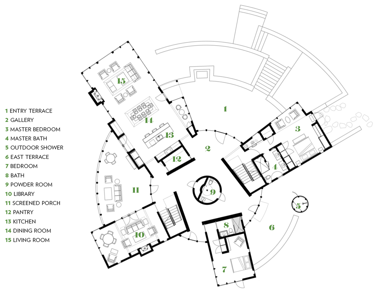 Life in the round a house with a circular center boston for Martha s vineyard house plans