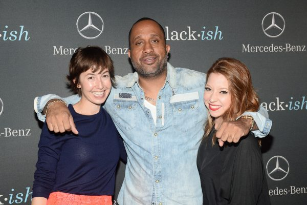 "BLACK-ISH - The cast and crew of ABC's critically acclaimed hit comedy ""black-ish"" celebrate the end of season one at a wrap party sponsored by Mercedes-Benz on Thursday, March 19th at Beso Hollywood in Los Angeles. ""black-ish"" airs Wednesdays at 9:30 p.m. ET/PT on ABC. (ABC/Matt Petit) ALEXIS KOCZARA, KENYA BARRIS (EXECUTIVE PRODUCER), AMANDA DOYLE"