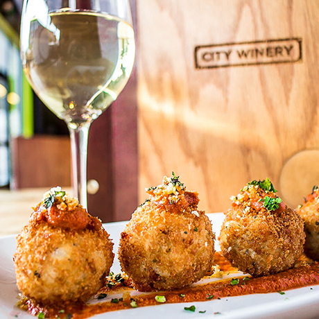 Risotto balls at City Winery