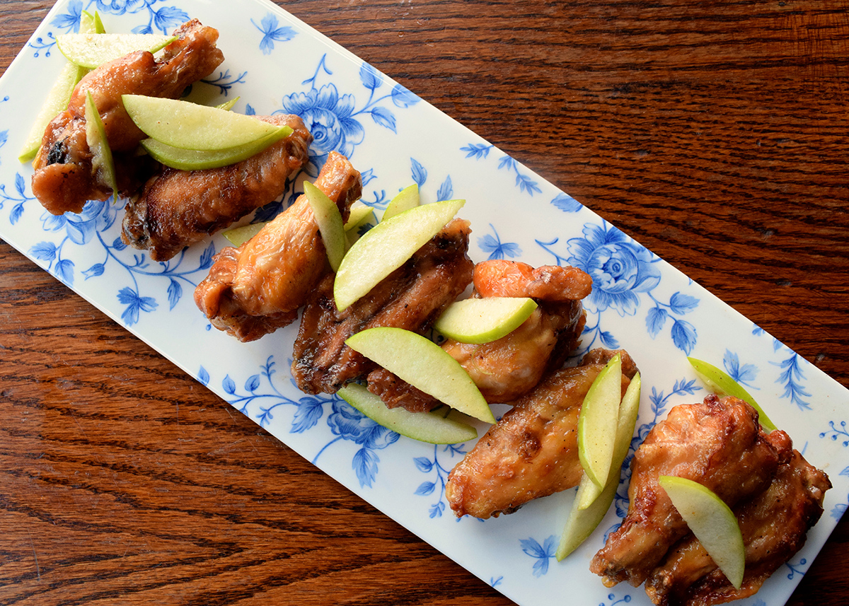 Cider-glazed wings at Cunard Tavern