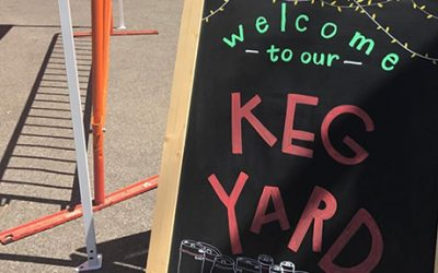 Scenes from soft opening weekend of the Harpoon Keg Yard via Instagram