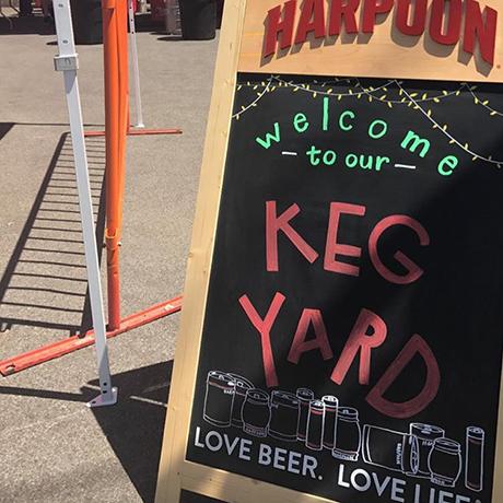 Scenes from soft opening weekend of the Harpoon Keg Yard via Instagram