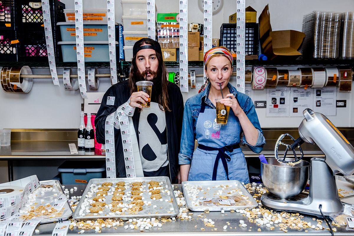 Michael Lastoria of &Pizza and Milk Bar creator Christina Tosi
