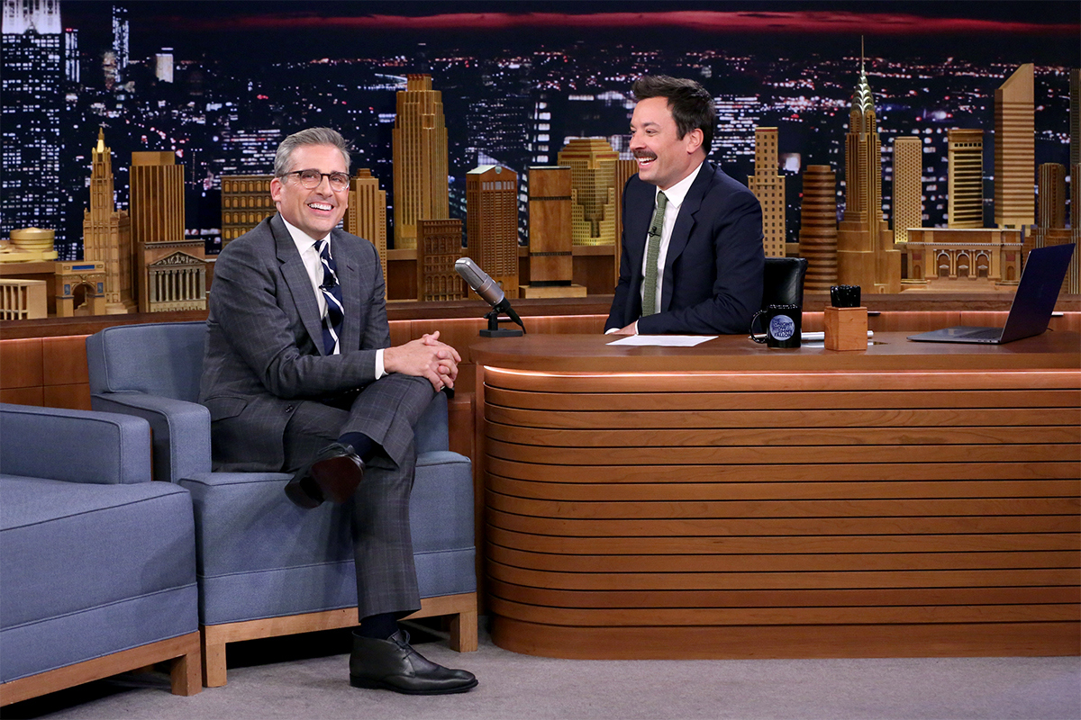 Steve Carell Jimmy Fallon Tonight Show