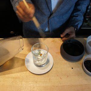 Tenzin Samdo creates a cocktail with Le Whaf at Café ArtScience