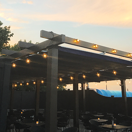 The patio behind Lulu's in Allston opens this summer