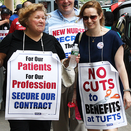 Tufts nurses strike