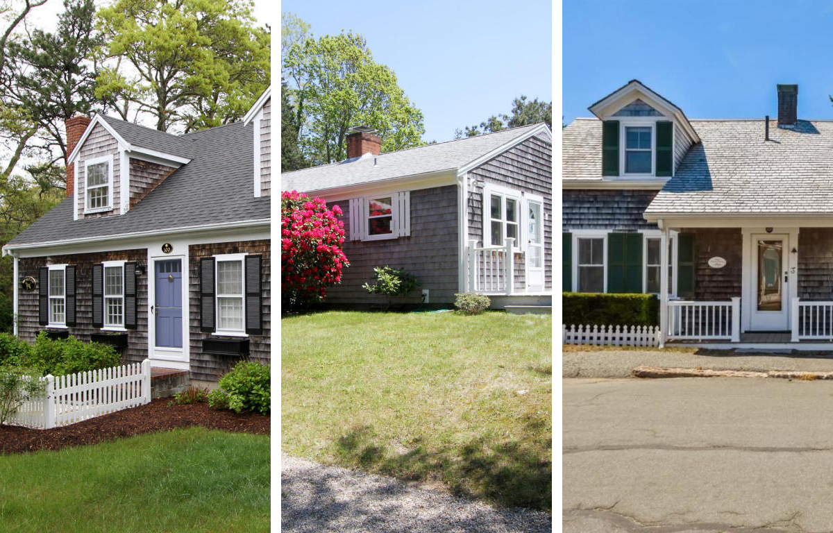 Five cape cod houses for sale with faded cedar shingles for Cape cod style houses for sale