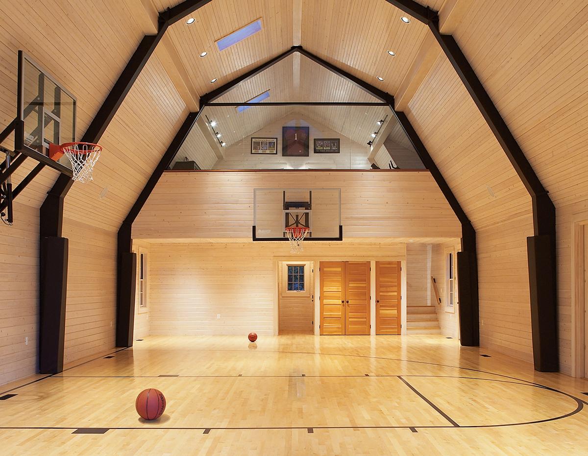 basketball court barn