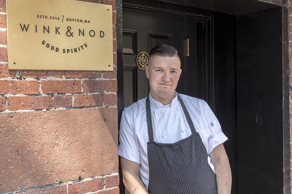 Chef Aaron Lhamon of Pareja at Wink & Nod