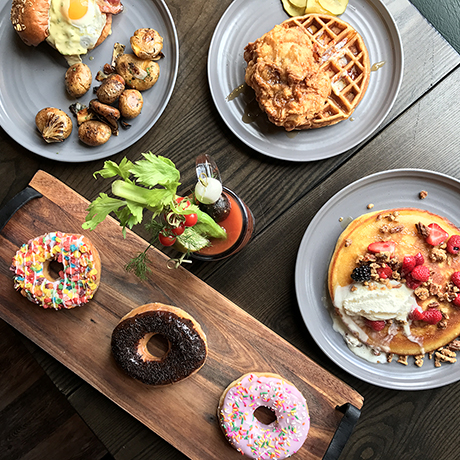 A decadent Sunday brunch spread at Ledger in Salem