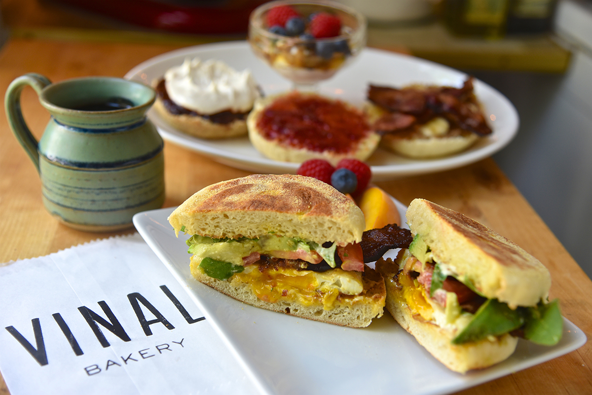 Pastry chef Sarah Murphy makes English muffins as Vinal Bakery, which pops up at Bagelsaurus this month