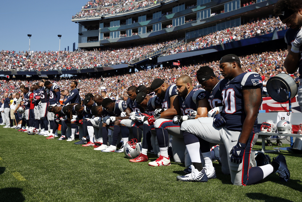 Image result for patriots take the knee image