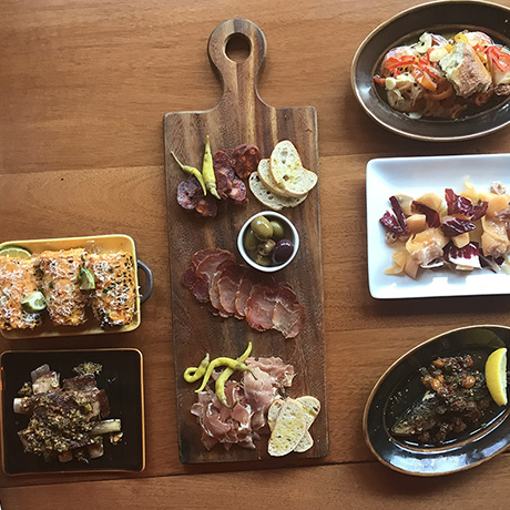 A spread of tapas at Madera 83 in Charlestown