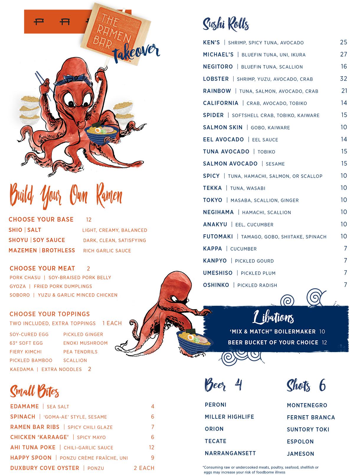 The Ramen Bar menu pabu