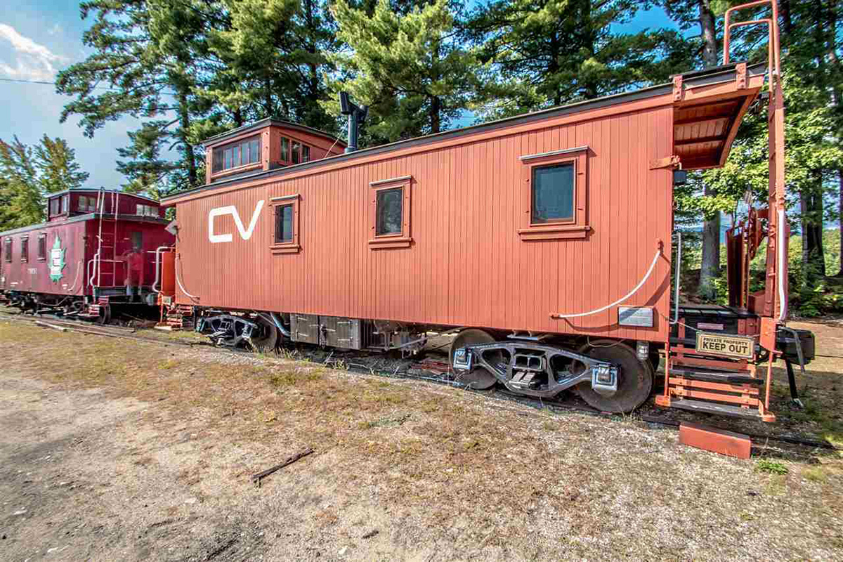 There 39 s a renovated train car for sale in conway nh for Railroad motor cars for sale