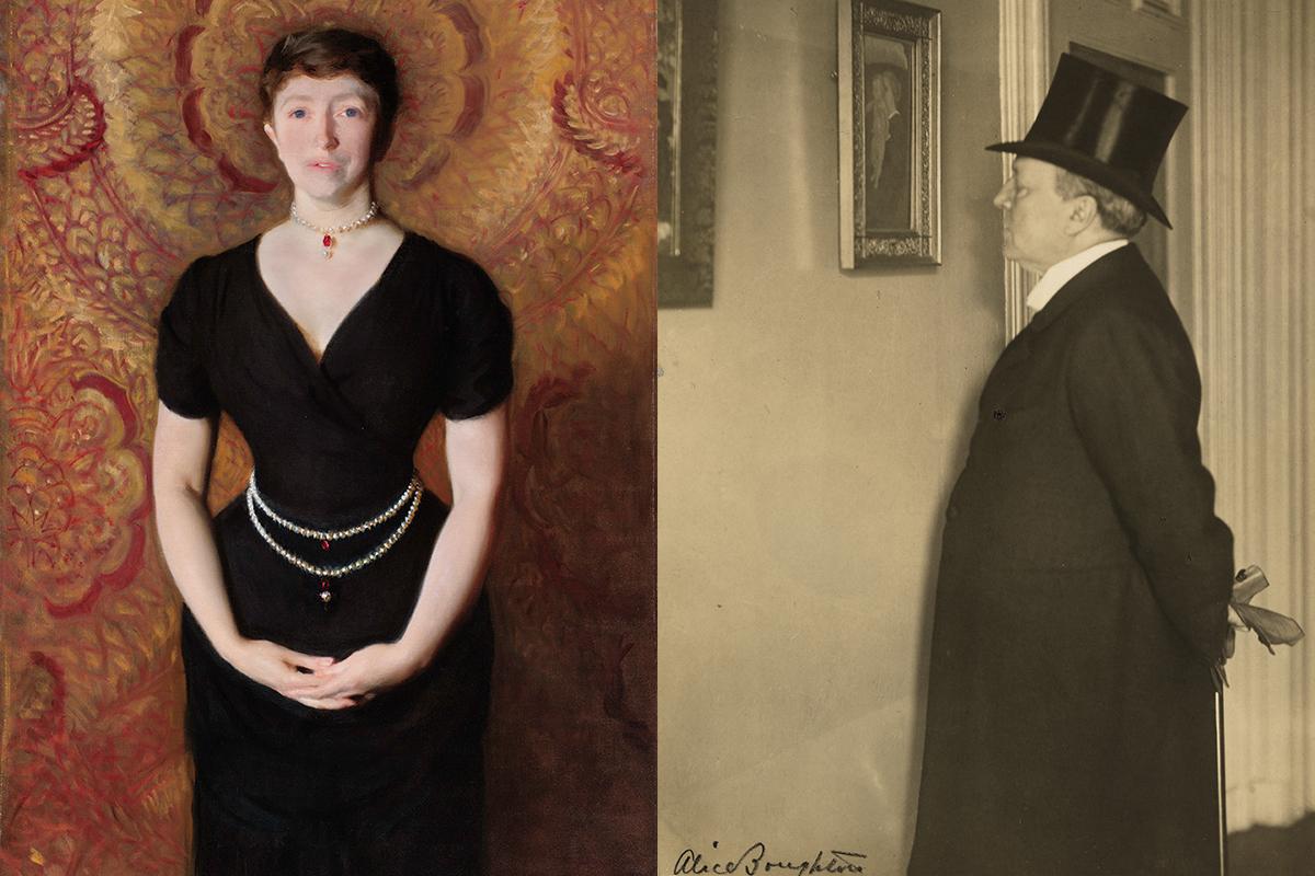 Portraits of Isabella Gardner and Henry James