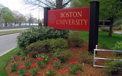 Boston University sign