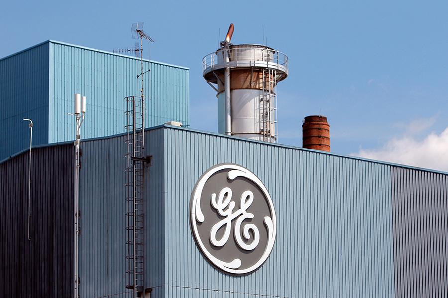 The GE logo