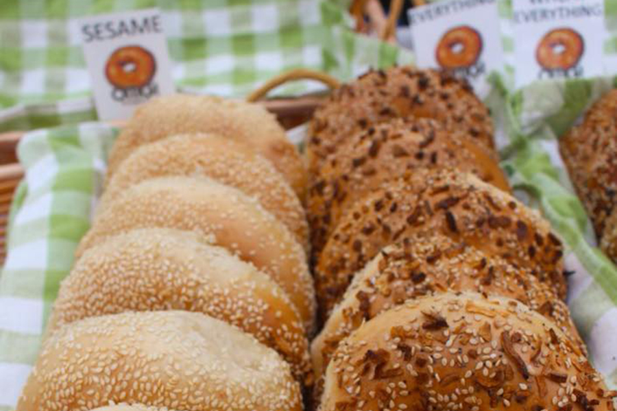 OMG! Bagels are on the menu at the Bagel Table at the Street