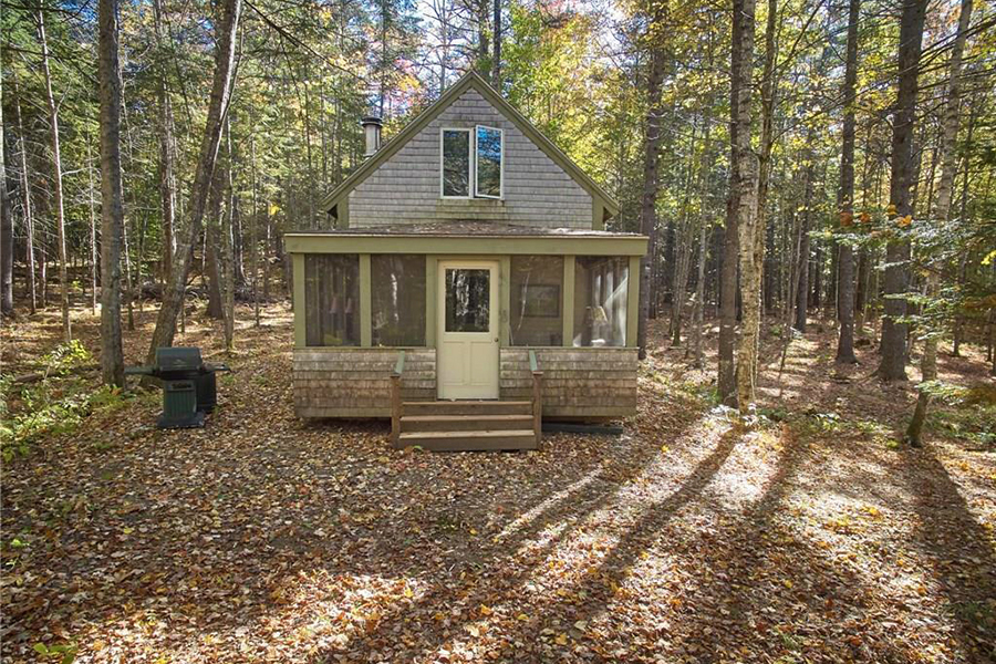 on the market a quaint cabin in the woods boston magazine. Black Bedroom Furniture Sets. Home Design Ideas