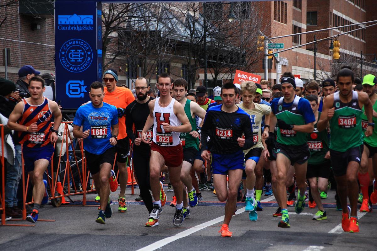 Runners in the Cambridge Half Marathon