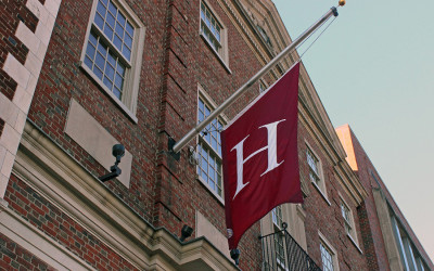 A Harvard College flag