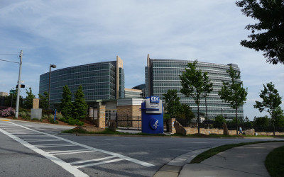 The outside of the CDC building