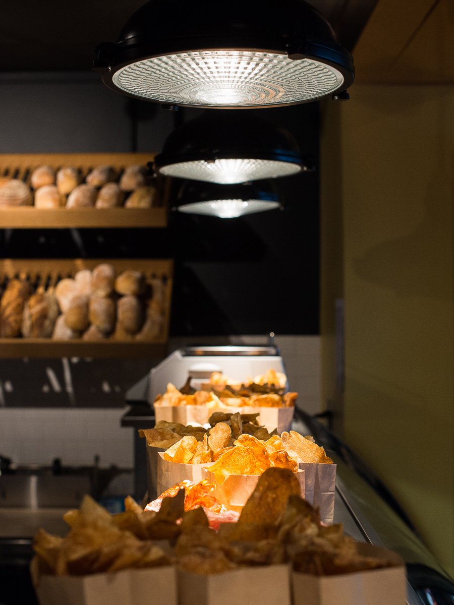 Truffle chips and breads at Moody's Deli in Back Bay