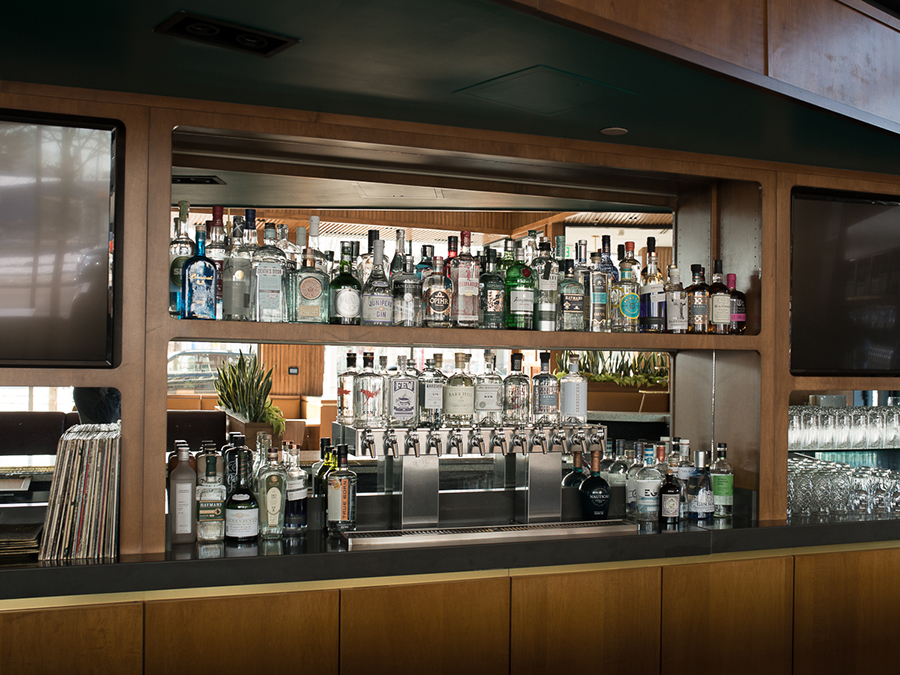 More than 75 different types of gin await at Our Fathers Deli