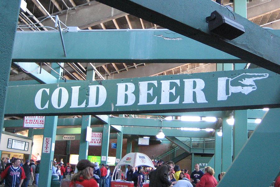 Fenway Park official beer Sam Adams