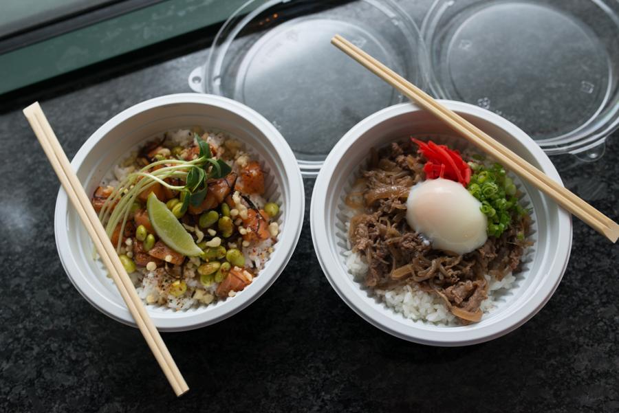 Donburi bowls at Oisa Ramen Slurp & Go
