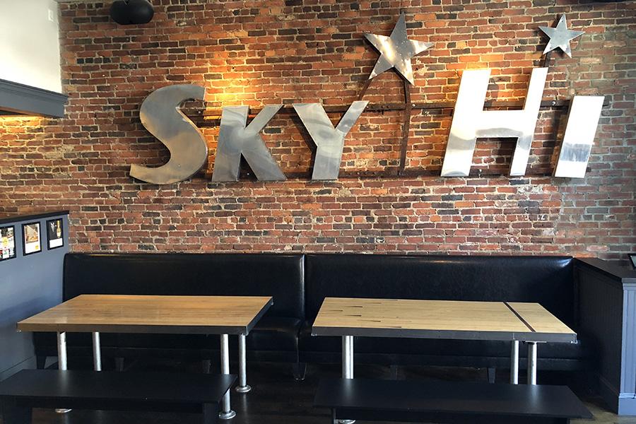 The Sky Hi sign at Trina's Starlite Lounge in Amesbury