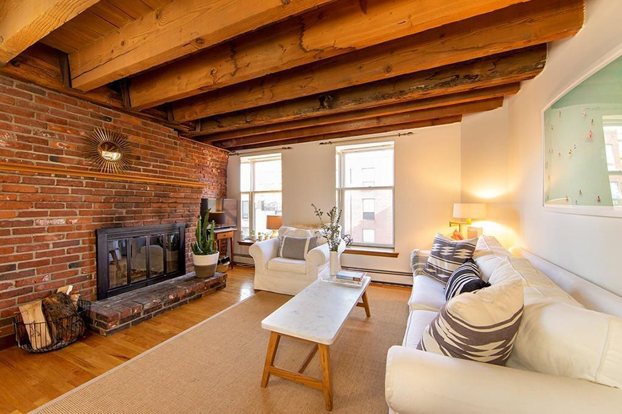 On the Market: A Brick-and-Beam Condo in the North End