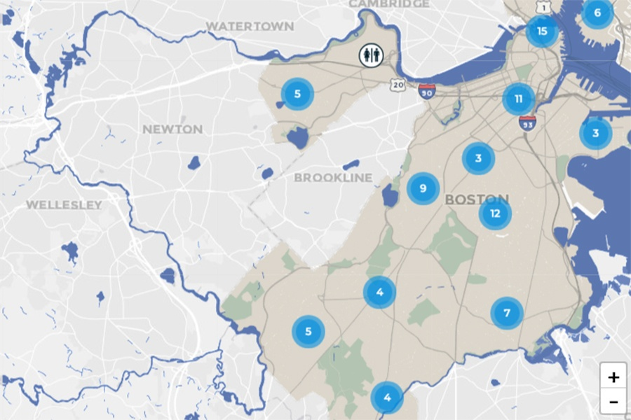 Interactive Boston Subway Map.Here S Where You Can Find The Nearest Public Restroom In Boston