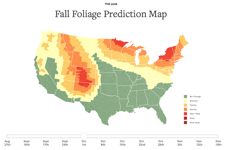 Your Interactive Fall Foliage Guide for 2018 Has Arrived