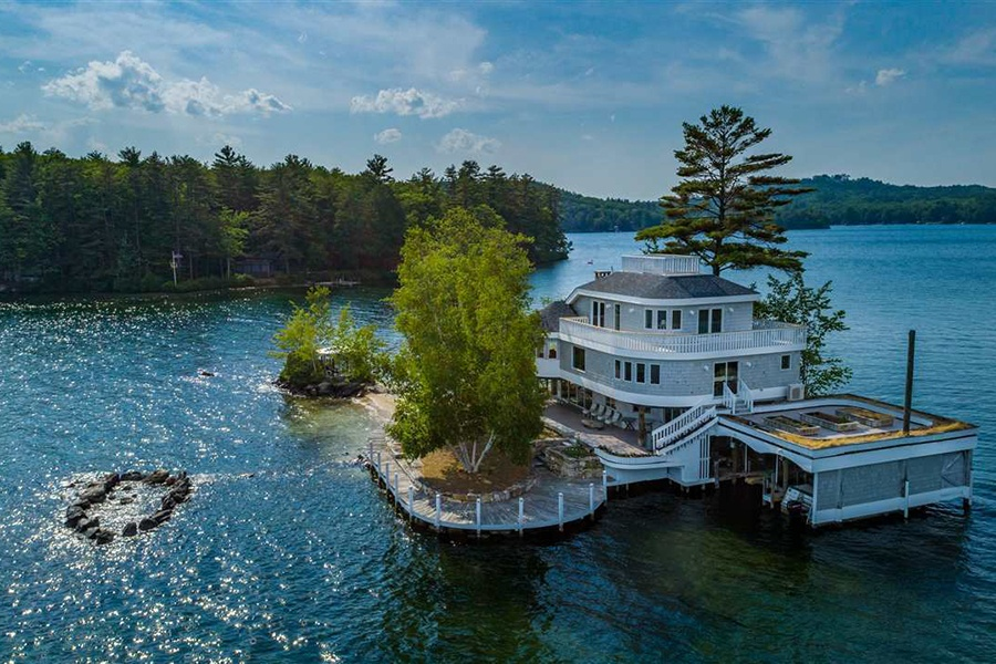Cool Care To Live On A Private Island In Lake Winnipesaukee Download Free Architecture Designs Aeocymadebymaigaardcom