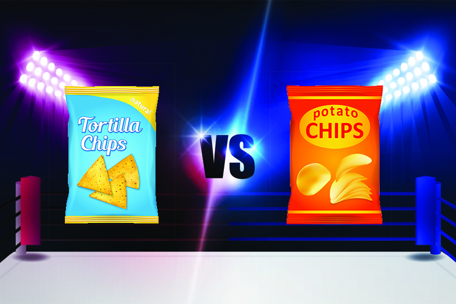 Image result for potato chips vs tortilla chips""