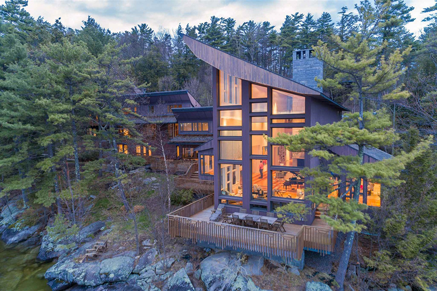 On The Market A Stunning New Hampshire Lake House In The Woods